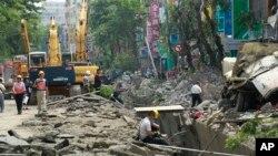 Ledakan gas di Kaohsiung, Taiwan menyebabkan berbagai kerusakan dan menewaskan sedikitnya 24 orang (1/8).