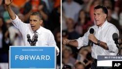 바락 오바마 미국 대통령(왼쪽)과 미트 롬니 공화당 대통령 후보. (자료사진)