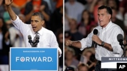 Predsednik Barak Obama i republikanski predsednički kandidat, Mit Romni
