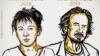«اولگا توکارچوک» برنده جایزه نوبل ادبیات ۲۰۱۸(چپ) و «پیتر هاندکی» برنده جایزه نوبل ادبیات ۲۰۱۹
