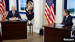 صدر بائیڈن آب و ہوا کی تبدیلی سے متعلق ایک ورچوئل اجلاس سے خطاب کر رہے ہیں۔ 17 ستمبر 2021