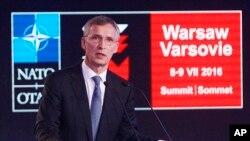 北约秘书长斯托尔滕贝格在峰会前的华沙专家论坛上讲话(2016年7月8日)