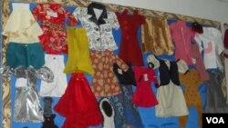 بعضی از صنایع دستی زنان آموزش دیده در هرات