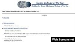 Mục lục Công ước Liên hiệp quốc về Luật Biển Quốc tế năm 1982
