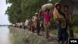 Rohingyas fuyant la violence