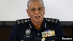 马来西亚副警察总长诺拉昔(Noor Rashid Ismail)召开记者会(2017年2月19日)