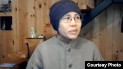 2012年底胡佳等人探望刘霞时拍摄的视频截图 (胡佳提供)
