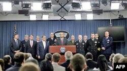 Tổng thống Obama nói về hướng chỉ đạo chiến lược quốc phòng trong buổi họp báo tại Bộ Quốc phòng hôm 5/1/12