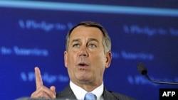Dân biểu John Boehner, trưởng khối Cộng hòa Hạ viện mừng thắng lợi của đảng Cộng hòa, một thắng lợi có thể thay đổi thế quân bình quyền lực tại Hạ Viện