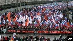Tuần hành tưởng nhớ lãnh đạo đối lập bị ám sát Boris Nemtsov