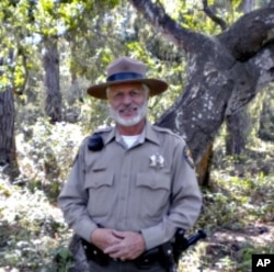 Ranger Chuck Bancroft's job includes enforcing the park's rules and sharing its wonders with visitors.