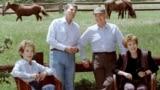რონალდ რეიგანი და მიხეილ გორბაჩოვი, სანტა ბარბარა, აშშ, 1992 წლის 3 მაისი.