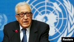 FILE - U.N. Special Representative Lakhdar Brahimi in Geneva, Switzerland.