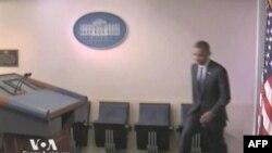 Predsednik Obama dolazi na konferenciju za štampu