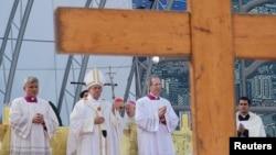 教宗方濟各在科巴卡巴納海灘主持彌撒