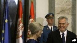 Predsednik Srbije Tomislav Nikolić sa suprugom Dragicom na inauguraciji u Beogradu