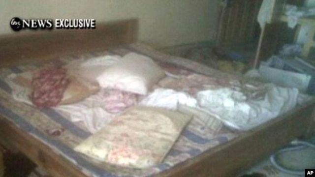 This picture, obtained from ABC News shows the interior bedroom in the mansion where Osama Bin Laden was killed May 2, 2011