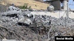 Bekas serangan udara Turki di lokasi militan PKK di Irak utara (foto: dok).