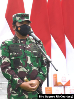 Panglima TNI Marsekal Hadi Tjahjanto akan melakukan pendistribusian dan pengawasan program ini dengan ketat. (Foto: Courtesy/Biro Pers)