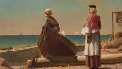 "This Winslow Homer painting from 1873 is called ""Dad's Coming!"""