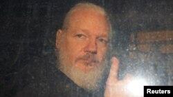Pendiri Wikileaks, Julian Assange di London.