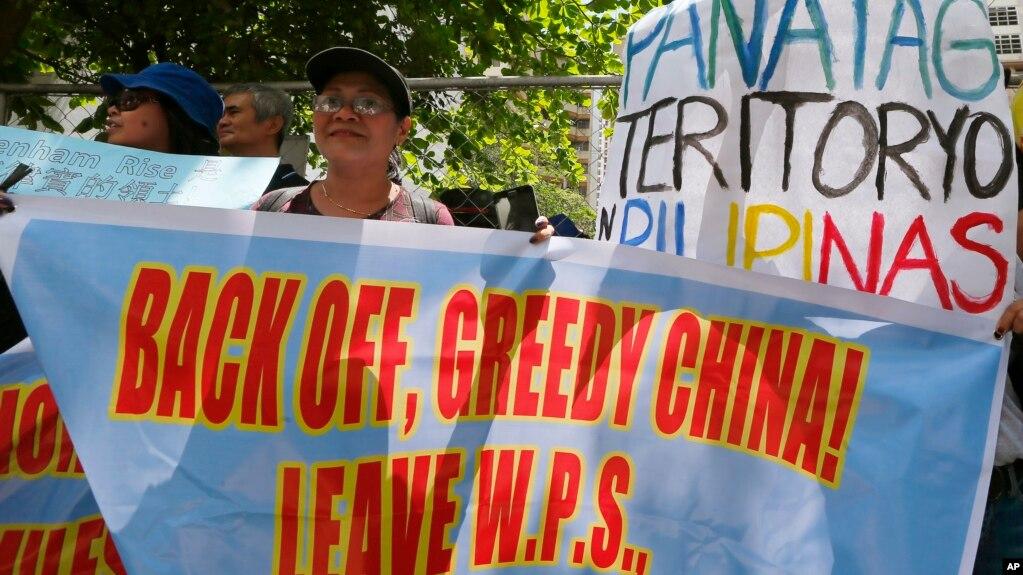 菲律賓民眾2017年抗議中國在斯普拉特里群島進行軍事化活動