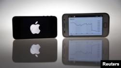 iPhone produksi Apple dan Samsung Galaxy S. (Foto: Dok)