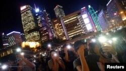Biểu tình đòi cải cách chính trị tại Hong Kong.