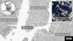 Location where a new Muslim Community Center is planned near New York's 'Ground Zero'
