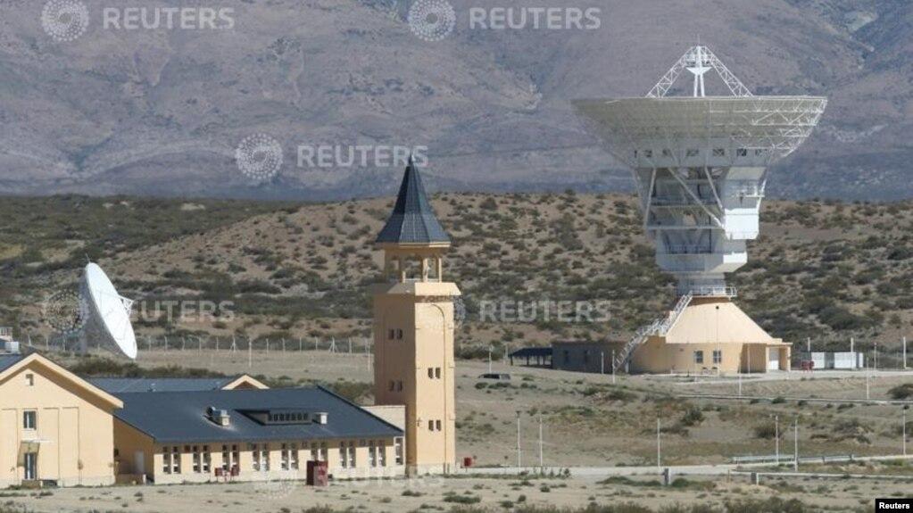 Trạm không gian của Trung Quốc ở Las Lajas, Argentina, hôm 22/1. Trung tâm này được bao quanh bằng hàng rào dây thép gai và thiếu sự giám sát của chính phủ Argentina.