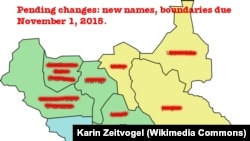 An order published on October 2, 2015 by South Sudan President Salva Kiir increases the number of states in the country from 10 to 28, renames almost all the states and redraws internal boundaries.