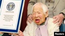 جاپان کی 114 سالہ خاتون میساؤ اوکاوا