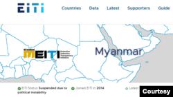 EITI website စာမ်က္ႏွာ