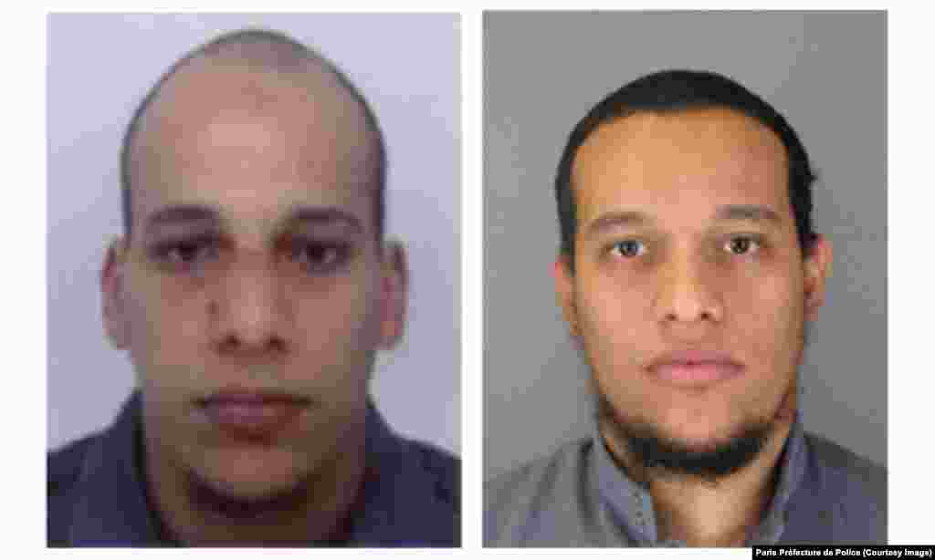 Chérif Kouachi, left, and Said Kouachi, right, are seen in images released by the Paris Préfecture de Police.
