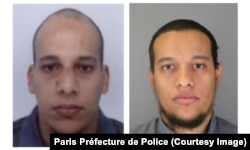 Chérif Kouachi, left, and Said Kouachi are shown in photos released by the Paris Préfecture de Police.