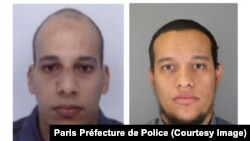 Chérif Kouachi, left, and Said Kouachi appear in images released by the Paris Préfecture de Police.