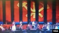 북한 관영 매체가 공개한 지난 6일 모란봉 악단 공연 장면.