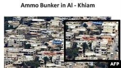 Hình chụp từ trên không do quân đội Israel công bố cho thấy phe Hezbollah tích trữ vũ khí tại nhiều thị trấn và làng mạc ở phía nam Libăng