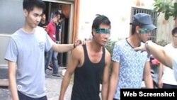 Hai trong số 14 công nhân Việt Nam bị Đài Loan bắt giữ vì làm việc trái phép hôm 6/8.