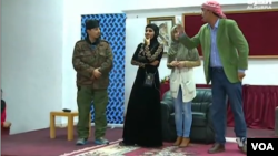 A Jordanian theater troupe perform a play with an anti-terror message.