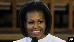 ສະຕີໝາຍເລກ 1 ຂອງສະຫະລັດທ່ານນາງ Michelle Obama