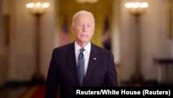 اپنے ویڈیو پیغام میں امریکی صدر نے ان واقعات کی یاد میں ہونے والے صدمے کو موضوع بنایا۔