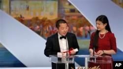 贾樟柯导演在第66届法国戛纳电影节上荣获最佳编剧奖后发表演讲。