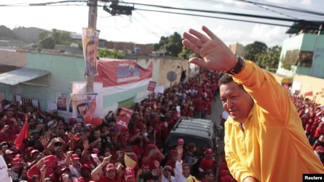 Predsednik Venecuele Ugo Čavez u predizbornoj kampanji