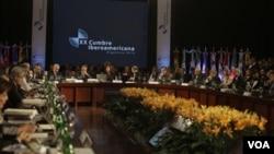 Varios presidnetes no asistieron a la reunión entre ellos el de España.