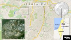 Peta wilayah kota Yerusalem.