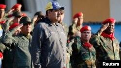 Ông Nicolas Maduro trong buổi lễ ở Caracas hôm 4/2.