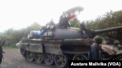 Jeshi la Congo FADRC baada ya kusambaratisha vikosi vya M23 huko Kibati..