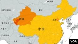 新疆地理位置