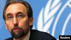 FILE - Zeid Ra'ad Zeid al-Hussein, U.N. High Commissioner for Human Rights
